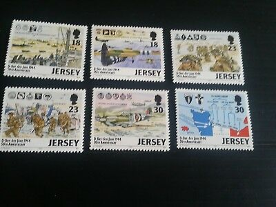 Jersey 1994 Sg 659-664 50Th Anniv Of D-Day Mnh