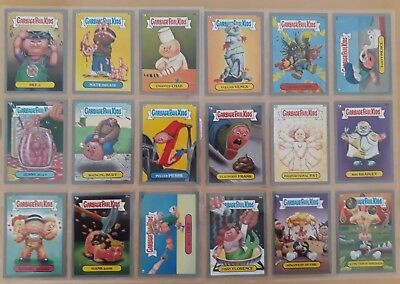 Garbage Pail Kids BNS 1. Silver Border Cards. 18 Total. Adam Bomb. Pack Fresh