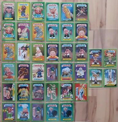 Garbage Pail Kids. BNS 1. Green Border Cards. 39 total. Adam Bomb. pack fresh