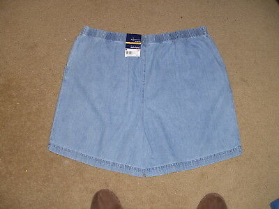 "Basic Editions Ladies Shorts  Sz Xl  Relaxed Fit   New  Denim  7"" Inseam Elastic"