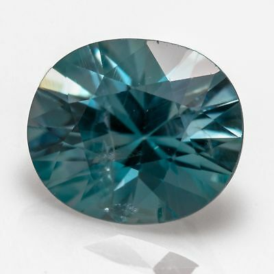 2.82ct Eye clean blue Zircon with a concave oval cut showing stunning fire.
