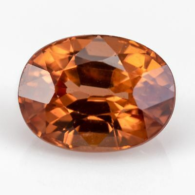 2.12 ct Zircon with an oval cut. A 100% natural gem with a reddish brown color.