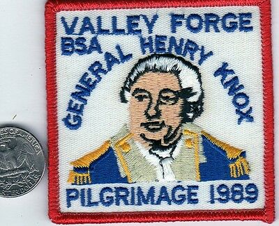 Boy Scouts of America Patch BSA General Henry Knox Pilgrimage 1989 Valley Forge