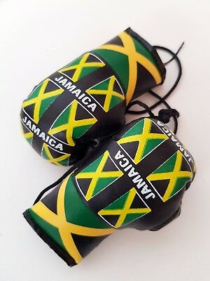 JAMAICA MINI BOXING GLOVES CAR MIRROR YARDI KINGSTON Decor Hanging Flag B*
