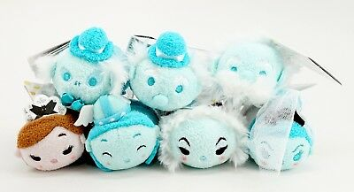 "New Disney Parks Tsum Tsum Haunted Mansion Attraction Set of 7 3.5"" Mini Plush"