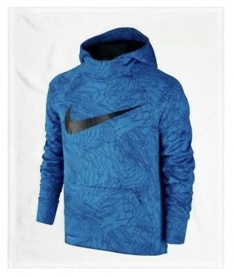 Nike Boy's Size Large 14-16 Therma Fit Pullover Hoodie Sweatshirt 903648 435 Nwt