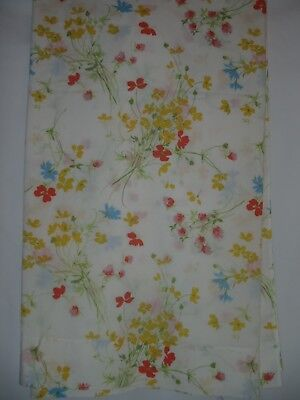 Vintage Fieldcrest Perfection FULL Percale No Iron Permanent Press FLAT Sheet