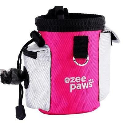 Dog Puppy Treat Snack Bag with Poo Holder, Training Belt Clip by Ezee Paws...