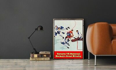 """Large Size 24""""x32"""" Hockey's Great Rivalry Poster -Toronto VS Montreal"""