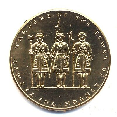 UK Oversized Comm Yeomen Warders HM Tower Of London, Royal Mint Medal, Beefeater