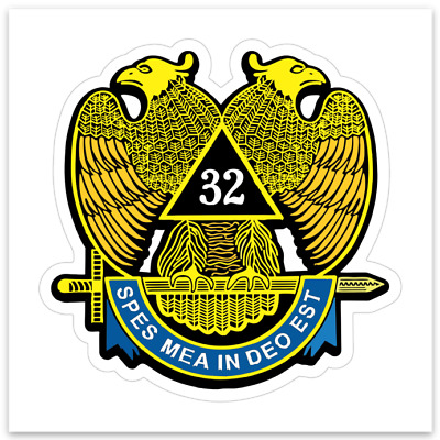 3/$9.99 Freemason Mason Scottish Rite 32nd Degree Sticker