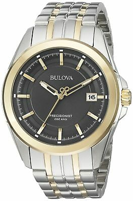 NIB Bulova Precisionist Two Tone Men's Watch 98B273 BM10