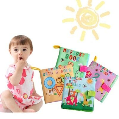 Soft Baby Cloth Book With Rustle Sound Musical Toy Safety Baby Educational Toys