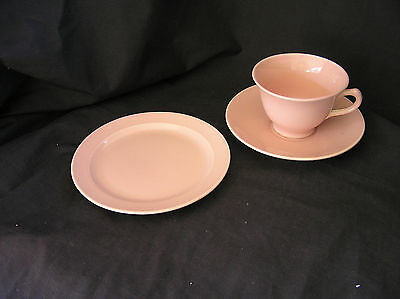 3 LuRay Pastel TST PINK Cup/Saucer & Bread & Butter Plate