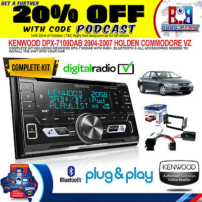 Aerpro kenwood DPX-7100DAB kit for Holden Commodore 2004 to 2007 VZ