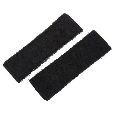 2 PCS Running Exercise Elastic Terry Cloth Headband Sweatband Black E4V2