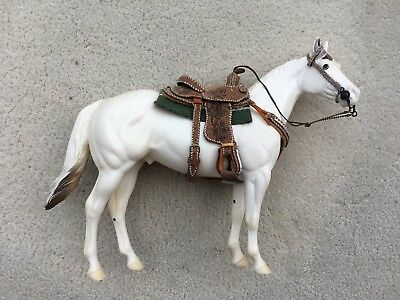 Top LSQ Breyer Horse Traditional Accessory Western Tack Set Brown Saddle Booker