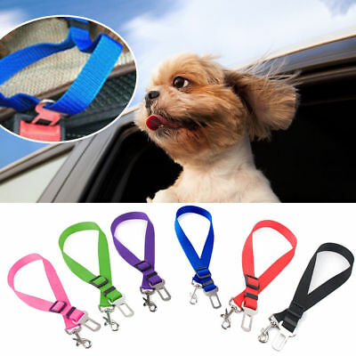 Pet Dog Car Seat Belt Adjustable Vehicle Lead Travel Harness Restraint Clip
