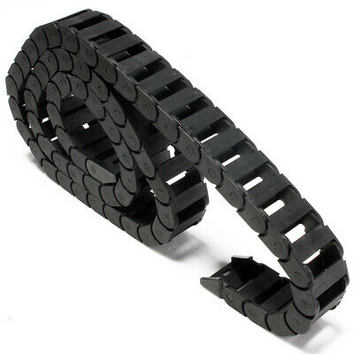 """1M 1000mm (40"""") R28 Black Long Nylon Cable Drag Chain Wire Carrier 10x20mm"""