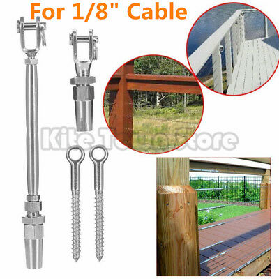 """T316 Stainless Steel Height Wood Kit Quick Installation For 1/8"""" Cable Railing"""