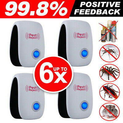 1/2/4/6PCS Electronic Ultrasonic Pest Repeller Killer Mosquito Insect Control AU