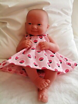 "14"" Pinny Dress Dolls Clothes Fit  First Annabell  Berenguer 34-38Cm"