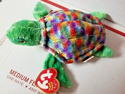 Retired TY Beanie Baby ZOOM the SEA TURTLE  Mint Collectible with Tag Error