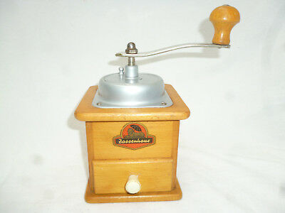 ANTIQUE BENCH TOP MANUAL COFFEE GRINDER made by Fassenhaus in Germany