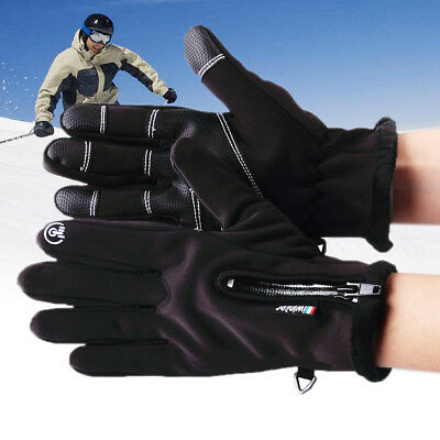 Nylon Leder Touch Screen Handschuhe Winter Thermo Winddicht Wasserdicht Gloves