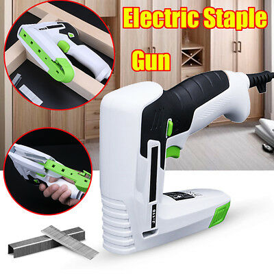 Electric Staple Gun Straight U Nail Nailer Framing Woodworking Air Tool 15mm