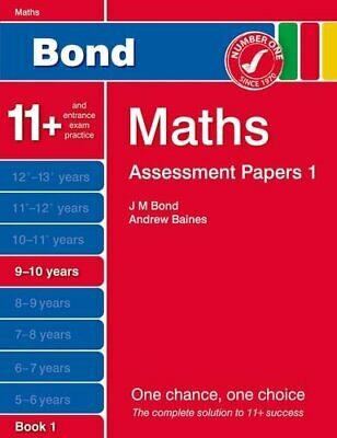 Bond Assessment Papers Maths 9-10 years Book 1 by Baines, Andrew Book The Cheap