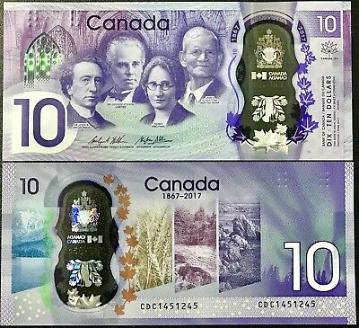 Canada 10 Dollars 1867 - 2017 Polymer P New 150Th Comm. Unc