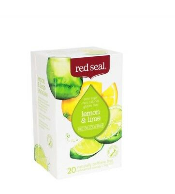 2 Packs of 20 RED SEAL LEMON AND LIME Caffeine Free Tea Bags - NEW