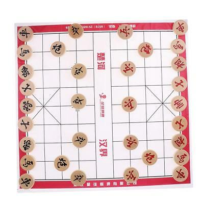 Portable ChessBoard Chinese Chess Set XiangQi Game Kids Adult Party Fun #2