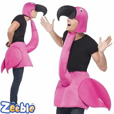 Adult Pink Flamingo Fancy Dress Costume Stag Night Hen Race For Life Outfit