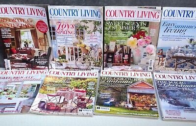Country Living magazine 8 second hand copies from 2016