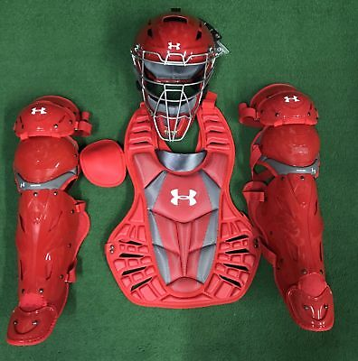 Under Armour Converge Pro Youth 9-12 Catchers Gear Set - Red