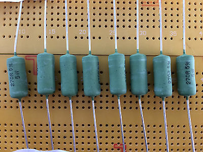 5W Wirewound Resistor Cemented Flame-Proof Vishay  AC05 All Values Multi Qty