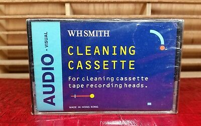 """Vintage WH SMITH Cassette Tape Head Cleaner """"1980s"""" : NEW & SEALED"""