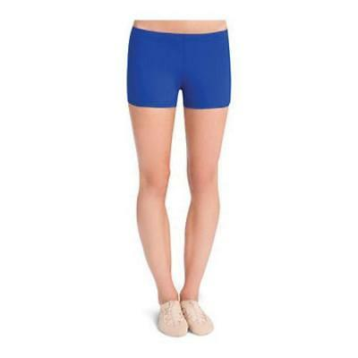 NWT Capezio Royal Blue Boy Cut Booty Shorts Ladies Small Adult Style # 108
