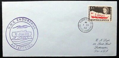 BRITISH ANTARCTIC TERRITORY 1969 £1 Endurance FDC with ANTARCTICA Cachet NH333