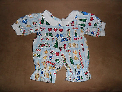 ANIMAL WORKS HANDMADE CHRISTMAS Clothing forTeddy Bear Jumpsuit 3+ ACS39 14-18""