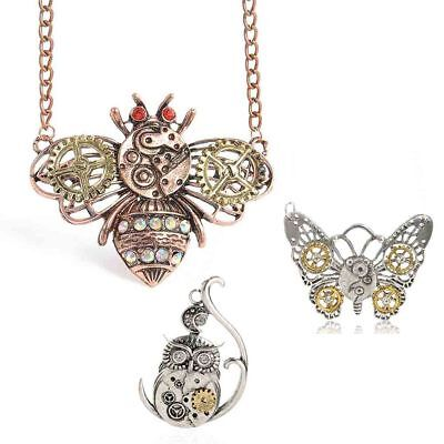 Chain Antique Steampunk Machinery Bee Gear Jewelry Pendants Choker Necklace