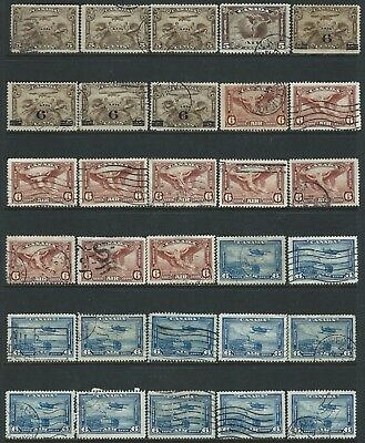 Canada - #c1/#c9 - Airmail Used Stamps Wholesale Lot 60 Stamps