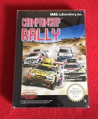 Nintendo NES PAL CHAMPIONSHIP RALLY Pal B NICE! US SELLER Box & Game, no manual
