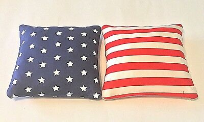 8 Regulation Patriotic Stars And Stripes Corn Hole Bean Bags - Corn Or Plastic-