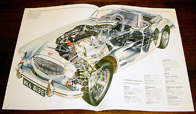 Austin Healey - technical cutaway drawing