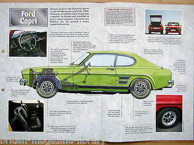 Ford Capri - Technical Cutaway Drawing