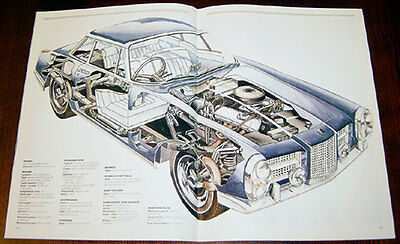 Facel Vega - technical cutaway drawing / Jaguar XJ13 - technical cutaway drawing