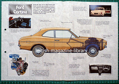 Ford Cortina - Technical Cutaway Drawing